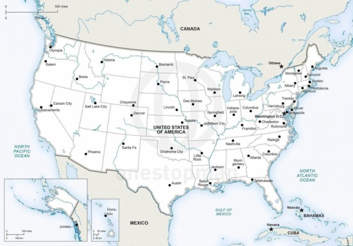 Printable United States Map With Rivers