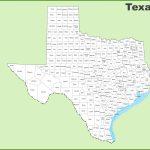 Texas County Map | Printable Map Of Texas Usa