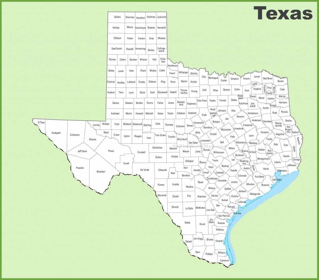 Texas County Map | Printable Map Of Texas Usa