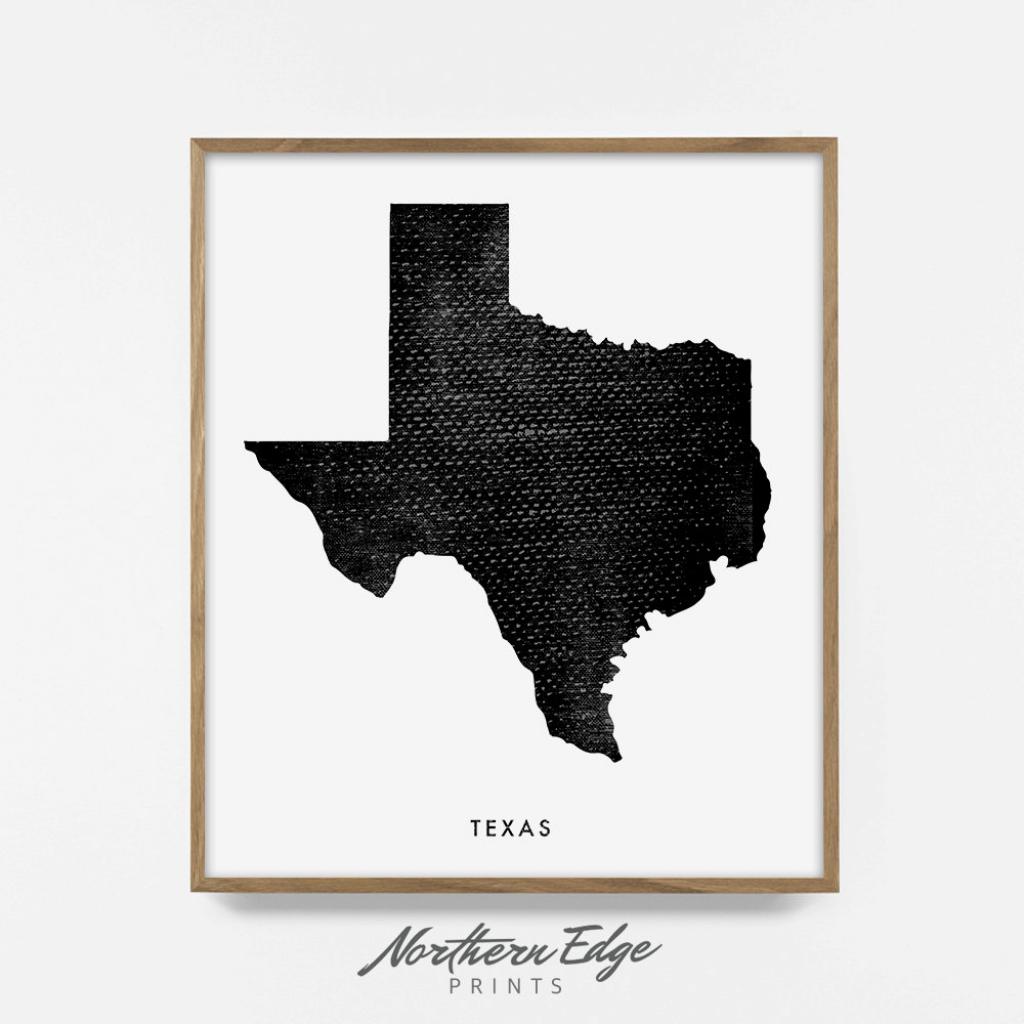 Texas Map Printable Art United States Print Printable Us | Etsy | 8X10 Printable Us Map