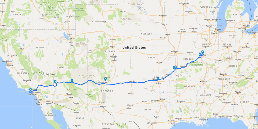 The Best Haunted Road Trip Across Route 66 - Route 66 Haunted | Printable Map Of Route 66 Usa