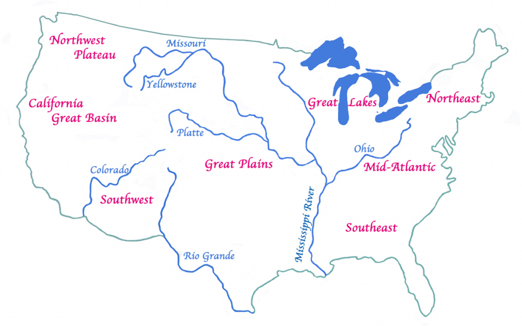 The Native American Indians | Printable Map Of Native American Regions