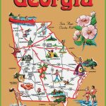 The State Of Georgia Map And Travel Information | Download Free The | Free Printable Map Of Georgia Usa