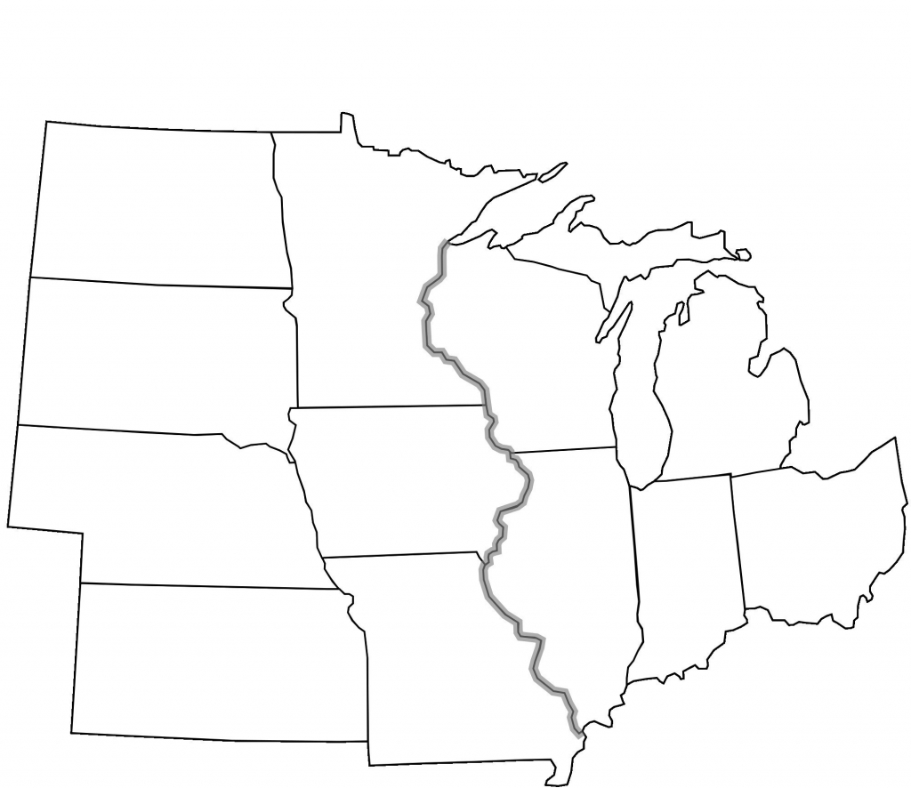 The United States Midwest Region Map New Map Midwest Usa With Cities | Printable Blank Map Of The United States Regions