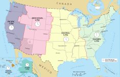 Time In The United States – Wikipedia | Printable Us Map With Cities And Time Zones