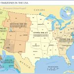 Time Zone Map Of The United States   Nations Online Project | Printable Color Us Timezone Map