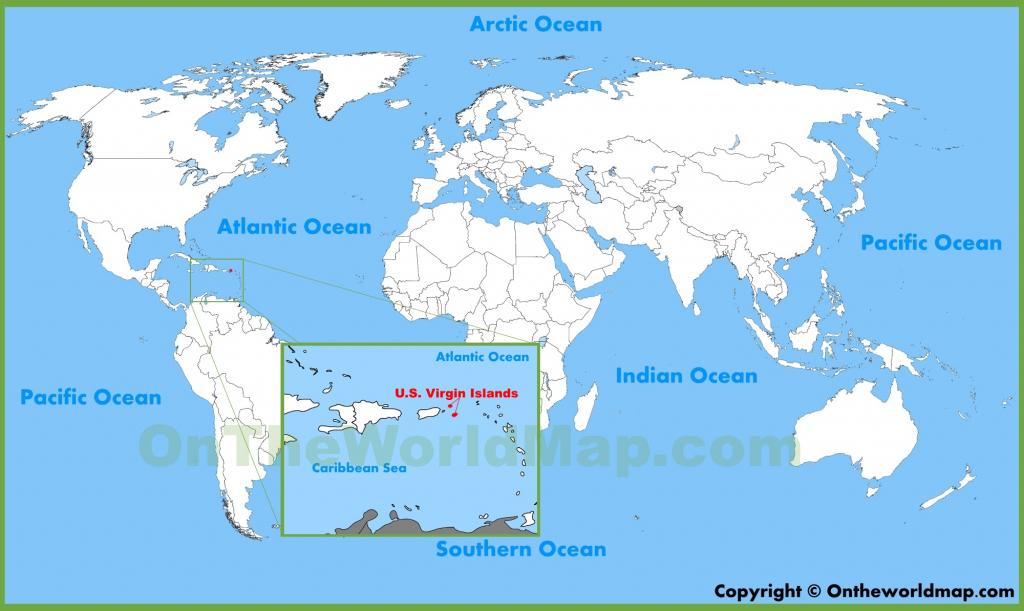 U.s. Virgin Islands Maps   Maps Of United States Virgin Islands   Printable Map Of Us Virgin Islands