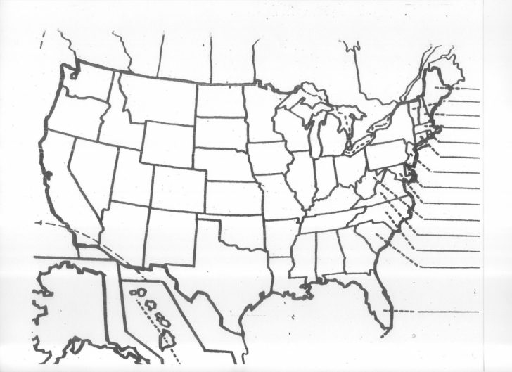 Free Printable United States Map Quiz