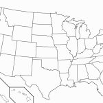 United States Blank Map Quiz Printable New United States Map Without | Printable Map Of The United States Without Labels