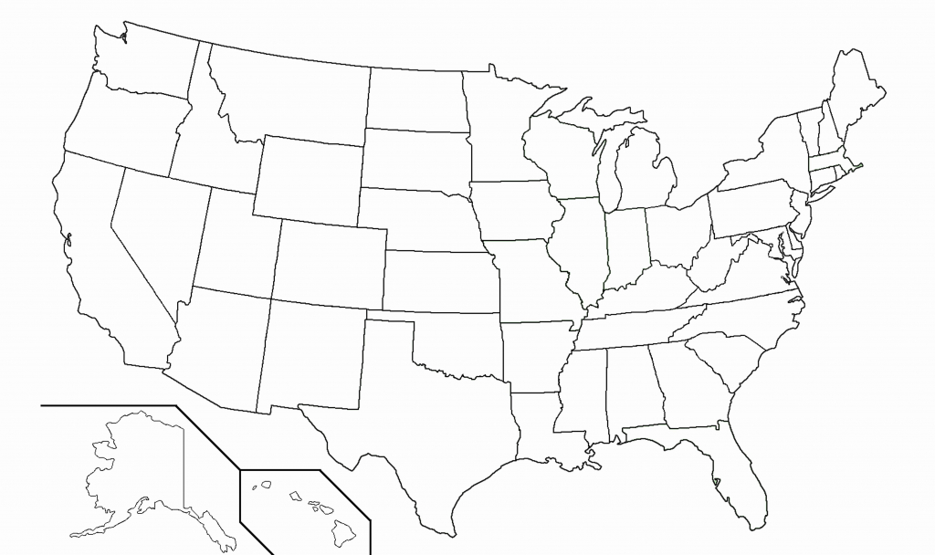 United States Blank Map Quiz Printable New United States Map Without | Printable United States Map Without Names