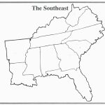 United States Blank Map Worksheet New Blank Map Southeastern United | Printable Map Of The Southeastern United States