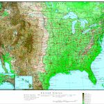 United States Elevation Map | Printable Topographic Map Of The United States