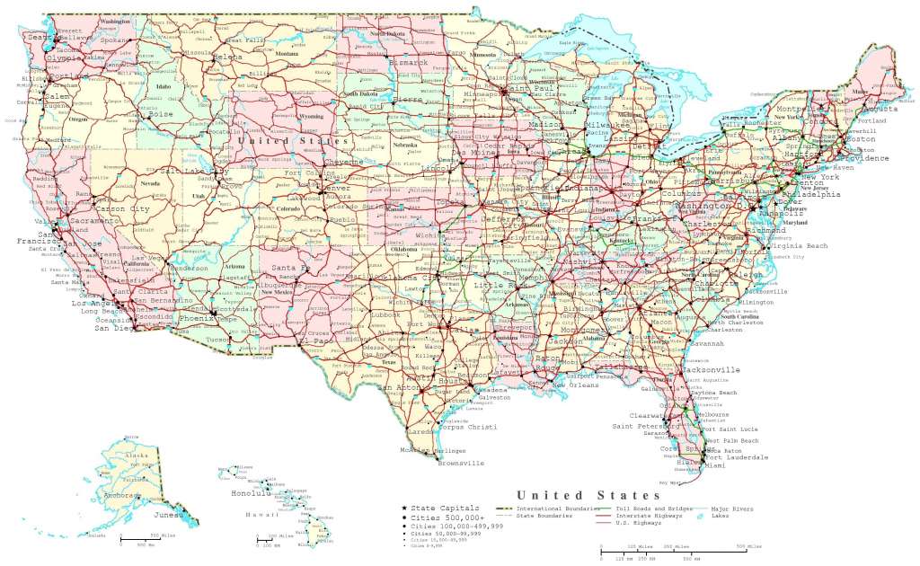 United States Highway Map Pdf Best Printable Us With Latitude And | Printable Us Map With Cities Pdf