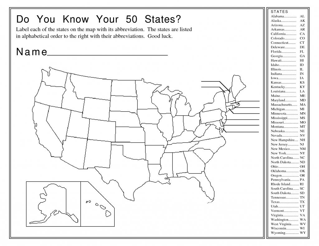 United States Map Activity Worksheet | Social Studies | Map | United States Map Game Printable