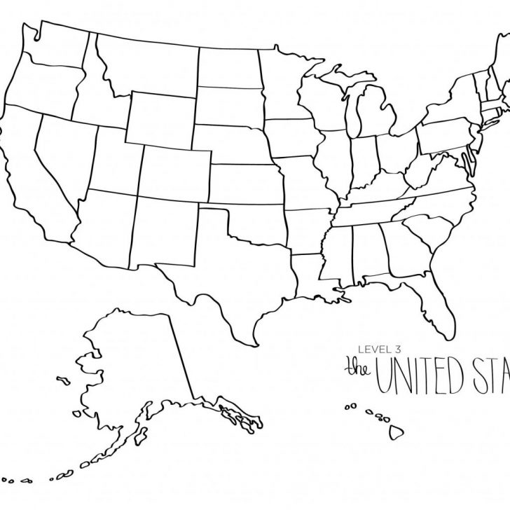 Free Printable United States Map Blank