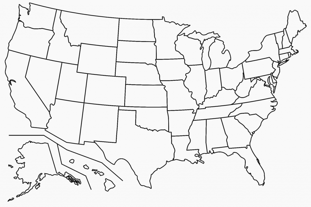 United States Map Blank Template Fresh Map Usa States Free Printable | Blank Map Of The United States With States Printable