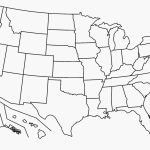 United States Map Blank Template Fresh Map Usa States Free Printable | Printable Unlabeled Map Of The United States