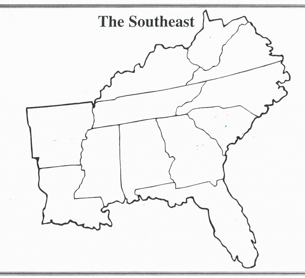 United States Map Blank With Capitals Best Blank Map The Southeast | Free Printable Map Of The Southeastern United States