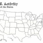 United States Map Blank With Capitals New Printable Us Map With | Blank Us Map With Capitals