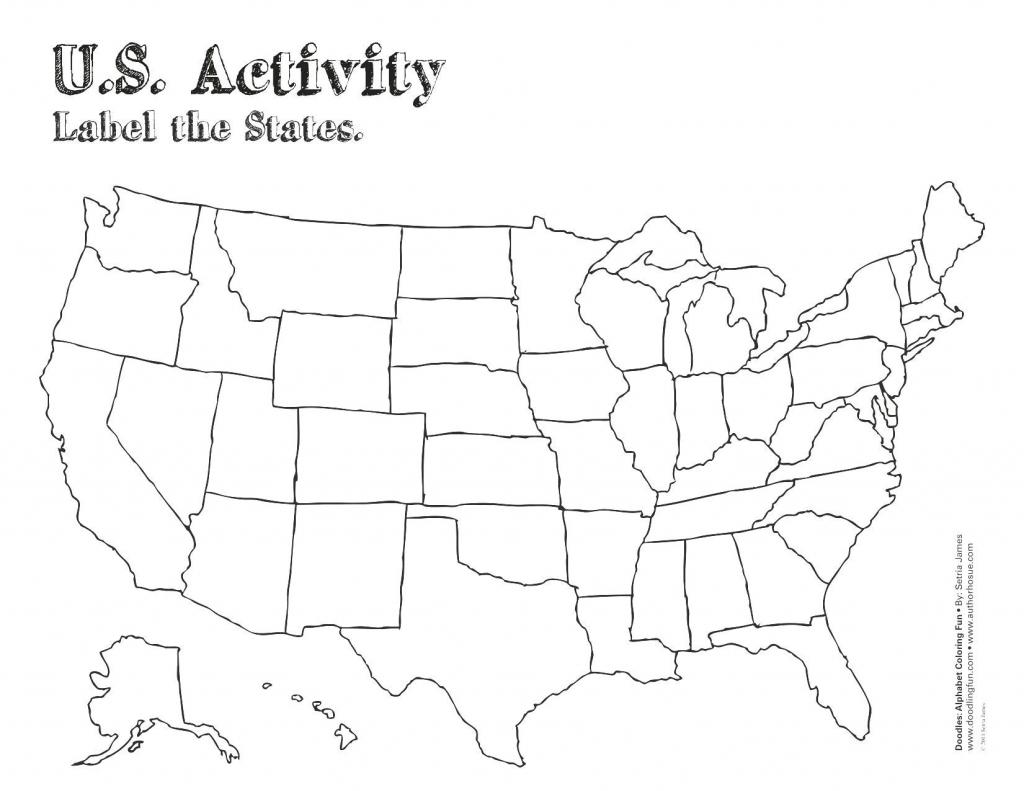 United States Map Outline Labeled Save Label Worksheet Valid Us | Us Map Blackline Printable