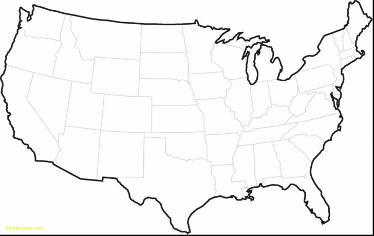 Printable Map Of Usa Without Names