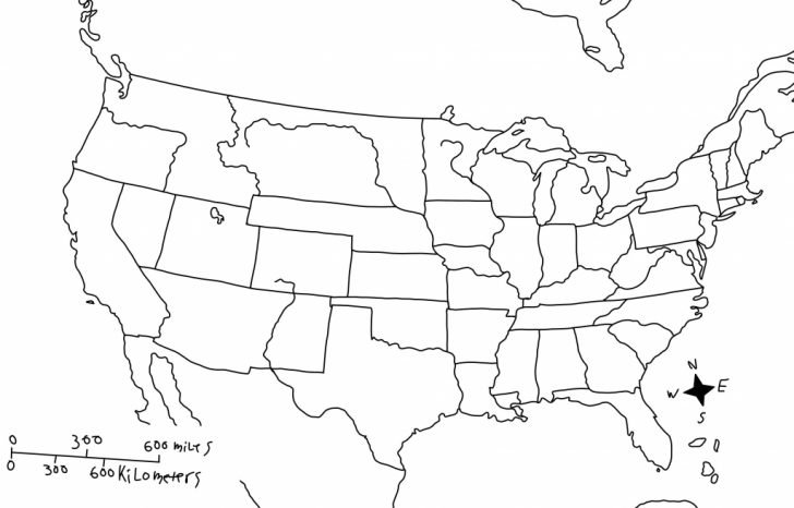 Blank Us Map With Rivers