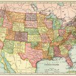 United States Map, Vintage Map Download, Antique Map, History   Printable Vintage Us Map