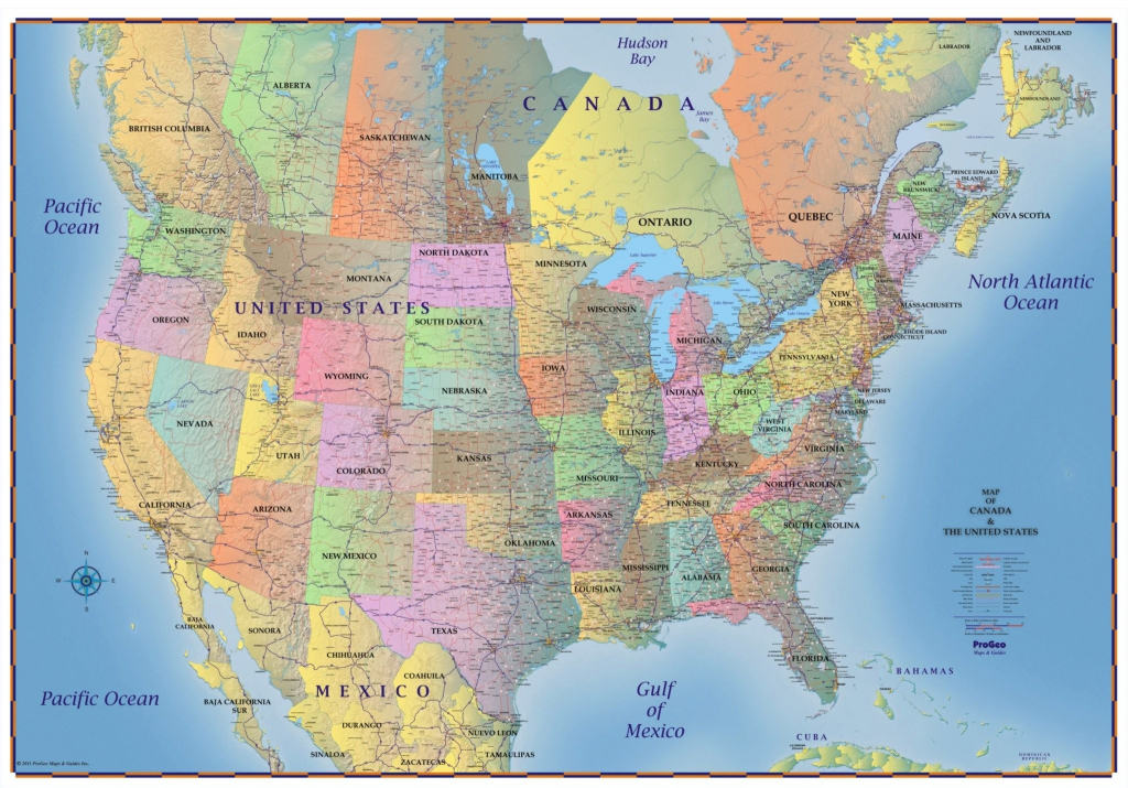 United States Map With Canada And Mexico New Usa Canada Map Toronto | Printable Us Map With Canada And Mexico