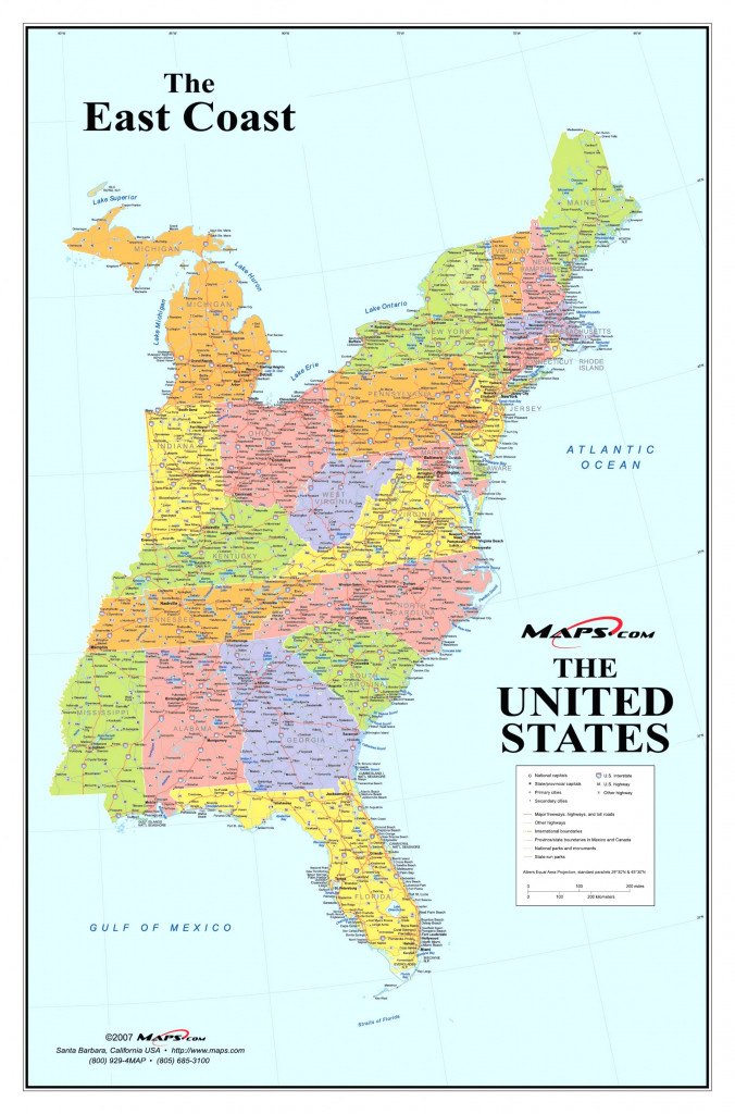 United States Map With Cities Listed Fresh Map Of Eastern Coast | Printable Eastern United States Map