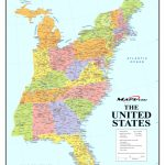 United States Map With Cities Listed Fresh Map Of Eastern Coast | Printable Map Of The East Coast Of The United States