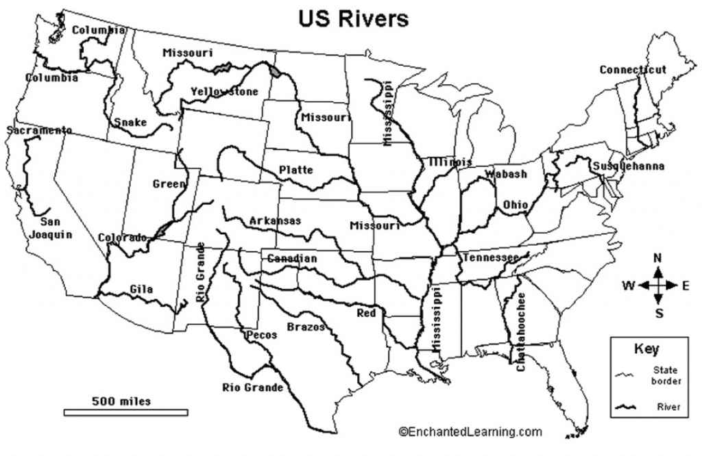 United States Map With Rivers | Sitedesignco | Blank Us Map With Rivers