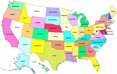 United States Map With State Names And Capitals Printable New United | Printable United States Map With States And Capitals