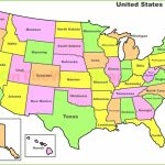 United States Map With State Names And Capitals Printable | Printable United States Of America Map