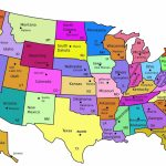 United States Map With State Names And Capitals Printable | Printable Us Map With State Names