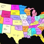 United States Map With State Names And Capitals Printable Refrence | Printable Map Of The United States With State Names And Capitals