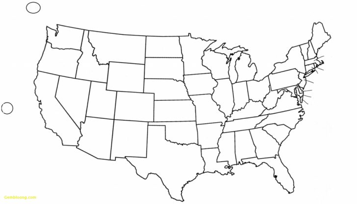 Printable Outline Map Of Usa With State Names