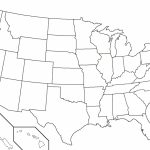 United States Map With State Names Printable Fresh Blank Us Map | Printable Map Of The Us Without State Names