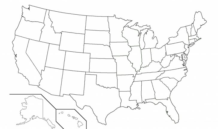 Printable Us Map Without Names