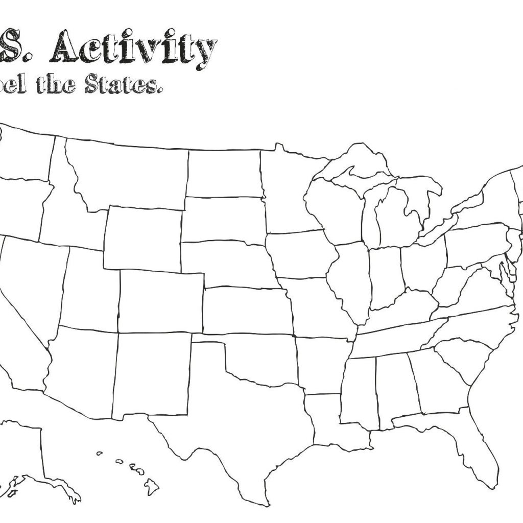 Free Printable Map Of The United States With State Names
