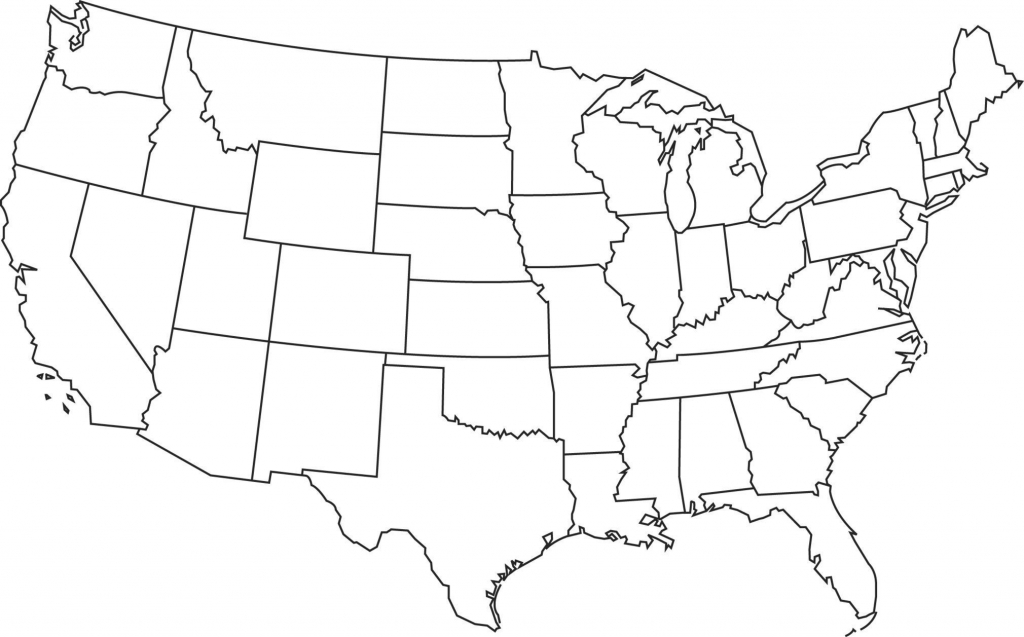 United States Of America Blank Map New United States Map Outline   Free Printable Blank Map Of The United States Of America