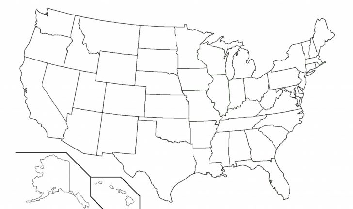 Printable Map Of United States Outline