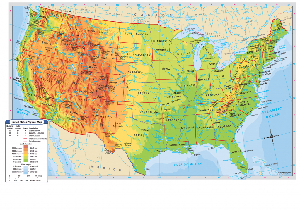 United States Physical Map | Favorite Places & Spaces | Us Geography | Printable Topographic Map Of The United States
