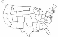 United States Printable Blank Map Best Us Blank Map With States | Free Printable Black And White Map Of The United States