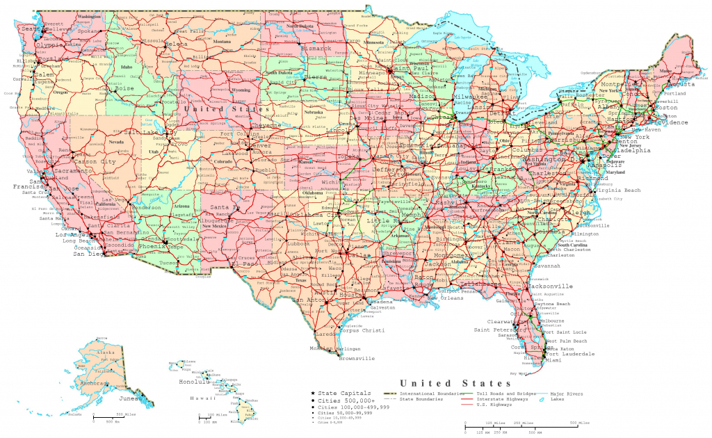United States Printable Map | Printable Map Of The United States With Major Cities And Highways