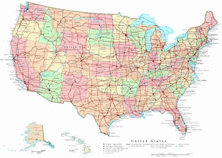 Printable Map Of United States With Roads