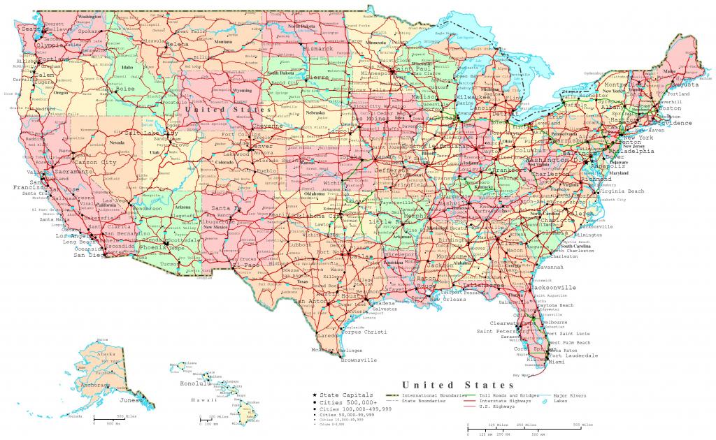 United States Printable Map | Printable Political Map Of Usa