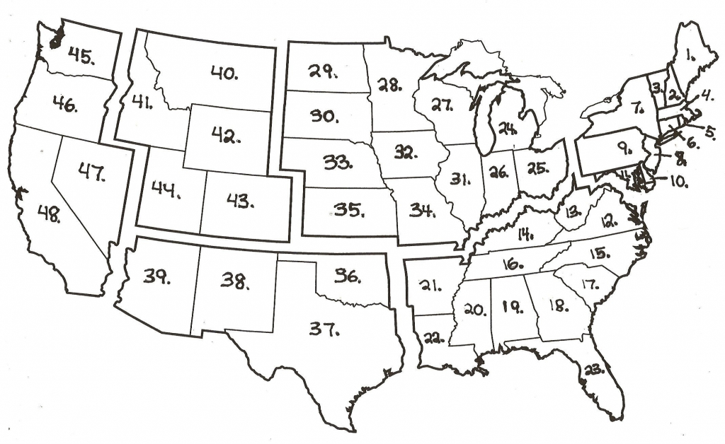 Us 50 State Map Practice Test Usa Labeled New Beautiful United | Printable Map Of The United States Test