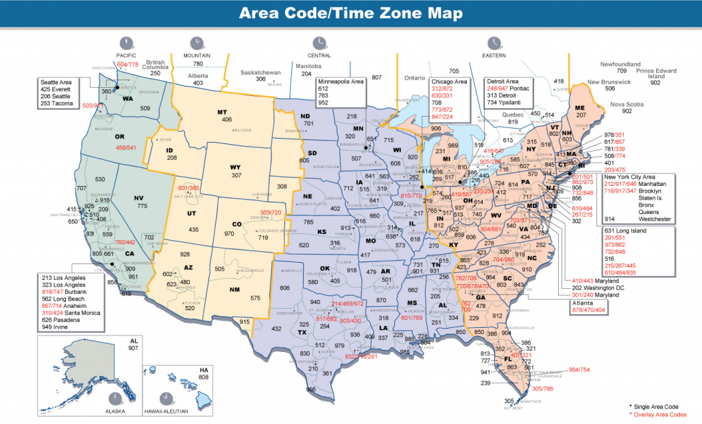 Us Area Code Map With Time Zones Usa Time Zone Map With States | Printable Us Time Zone Map With Cities