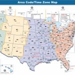 Us Area Code Map With Time Zones Usa Time Zone Map With States | Us Timezone Map Printable