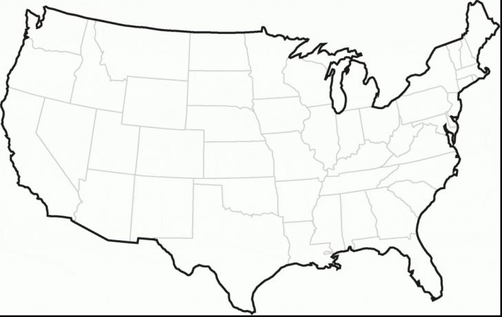 Printable United States Map Blank